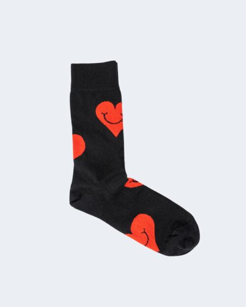 Calzini Lunghi Happy Socks JUMBO SMILE HEART Nero – 66457