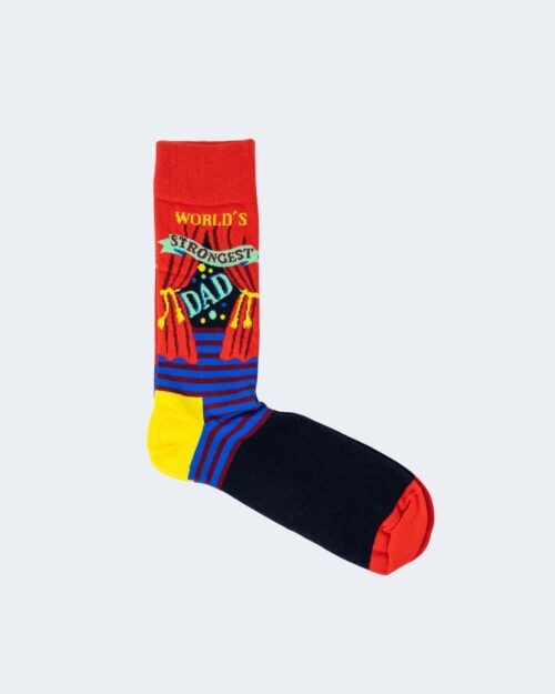 Calzini Lunghi Happy Socks WORLD'S STRONGEST DAD Rosso – 66481