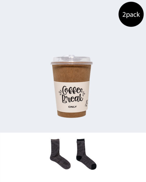 Calzini Only Coffee Break 2-Pack Cup Nero – 53445