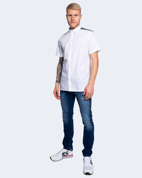 Camicia manica corta Armani Exchange LOGO MANICA Bianco – 65127