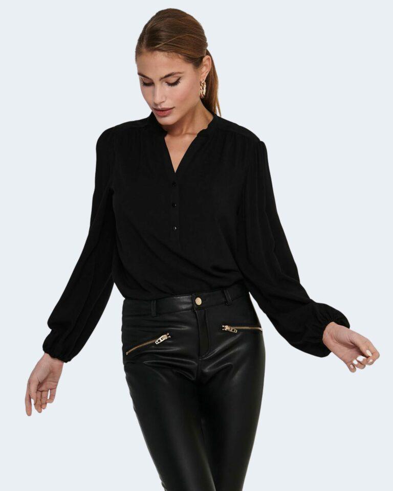 Bluse manica lunga Jacqueline de Yong MARLON Nero - Foto 1