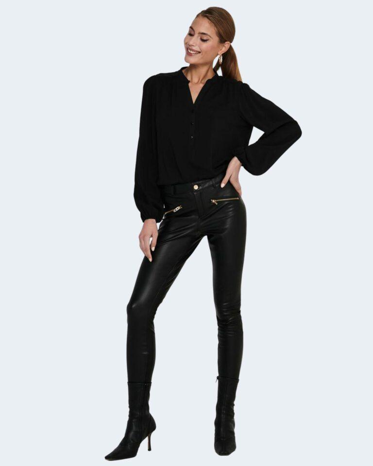 Bluse manica lunga Jacqueline de Yong MARLON Nero - Foto 2