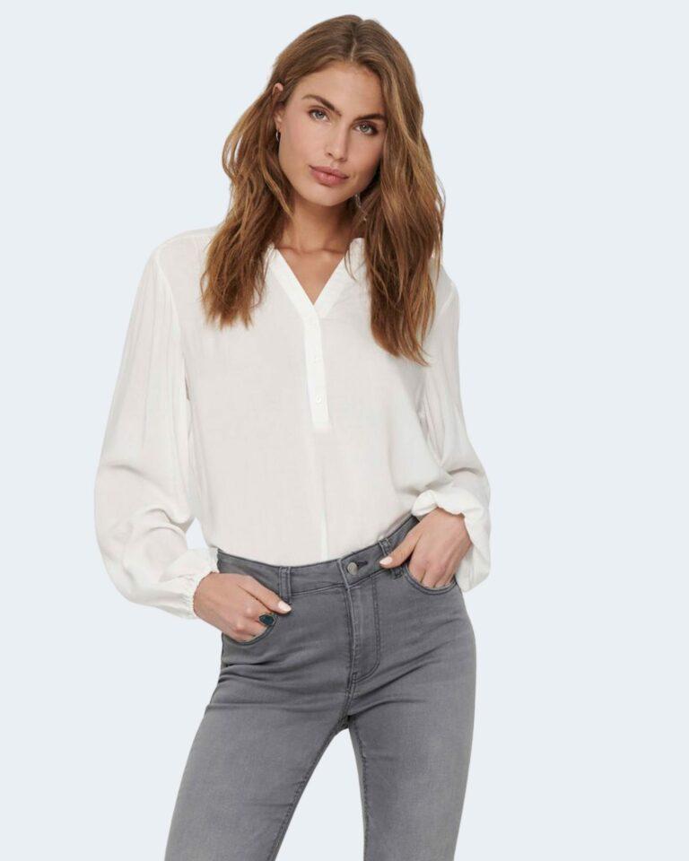 Bluse manica lunga Jacqueline de Yong MARLON Panna - Foto 1
