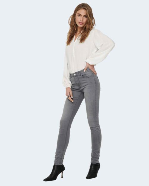 Bluse manica lunga Jacqueline de Yong MARLON Panna - Foto 2