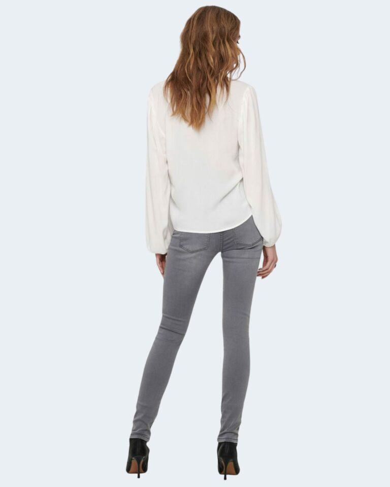 Bluse manica lunga Jacqueline de Yong MARLON Panna - Foto 4