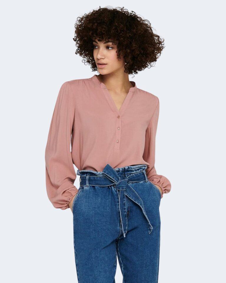 Bluse manica lunga Jacqueline de Yong MARLON Rosa - Foto 1