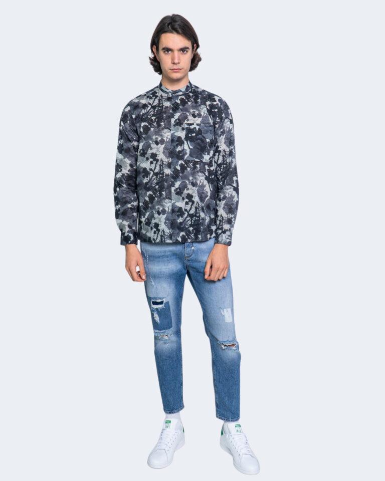 Camicia manica lunga Antony Morato STRAIGTH FIT Blu - Foto 2