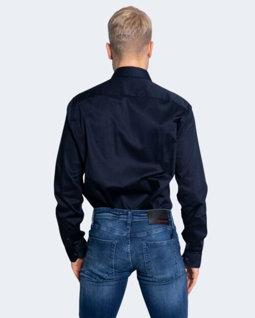 Camicia manica lunga Armani Exchange TINTA UNITA Blu – 65164
