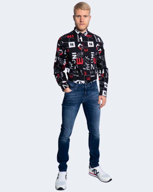 Camicia manica lunga Armani Exchange LOGO LETTERE Nero – 65126