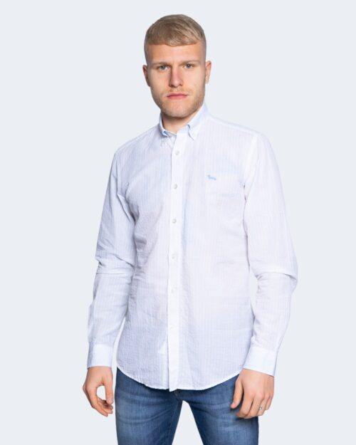 Camicia manica lunga Harmont&blaine 2 TESSUTI Bianco – 66818