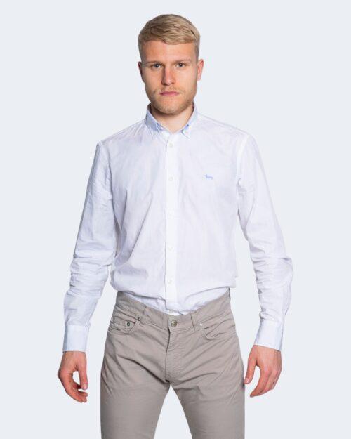 Camicia manica lunga Harmont&Blaine 2 TESSUTI Bianco - Foto 1