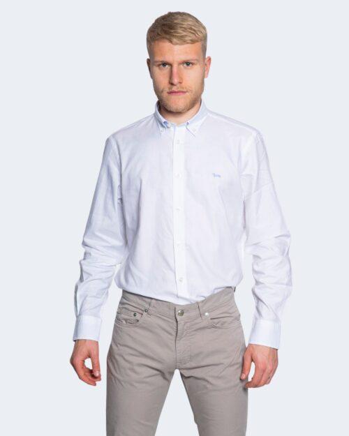 Camicia manica lunga Harmont&blaine 2 TESSUTI TINTA UNITA Bianco – 66821