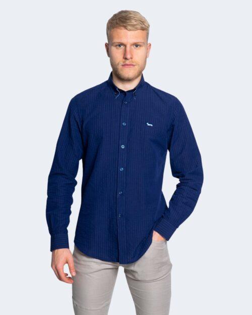 Camicia manica lunga Harmont&blaine 2 TESSUTI Blu – 66818