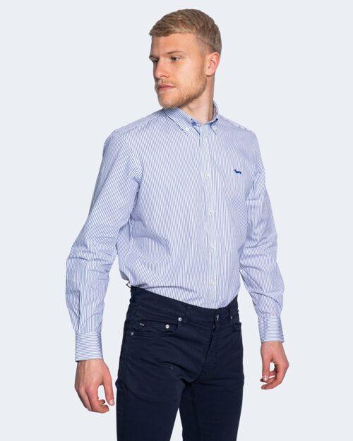 Camicia manica lunga Harmont&blaine 2 TESSUTI RIGHE PICCOLE Blu – 66823