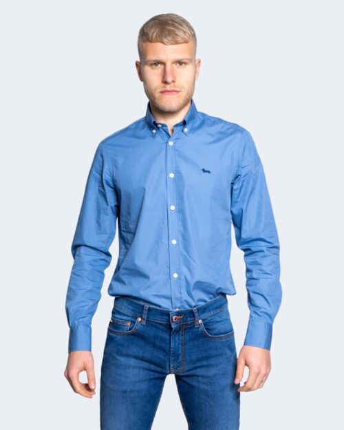 Camicia manica lunga Harmont&Blaine 2 TESSUTI Blu Chiaro - Foto 1