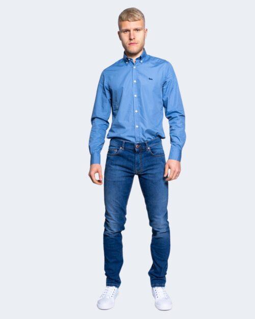 Camicia manica lunga Harmont&blaine 2 TESSUTI Blu Chiaro – 66822