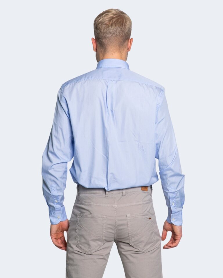 Camicia manica lunga Harmont&Blaine 2 TESSUTI Celeste - Foto 3