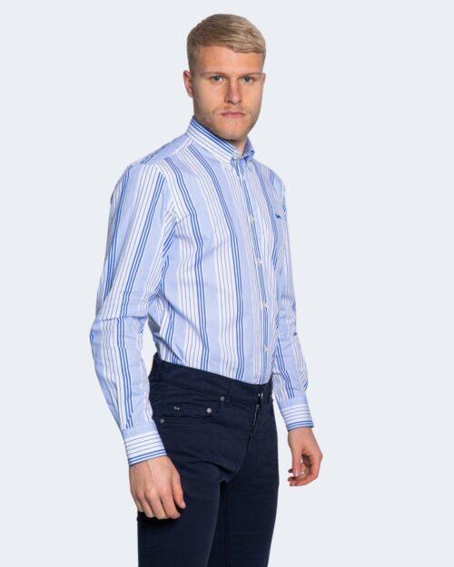 Camicia manica lunga Harmont&blaine 2 TESSUTI RIGHE Celeste – 66820