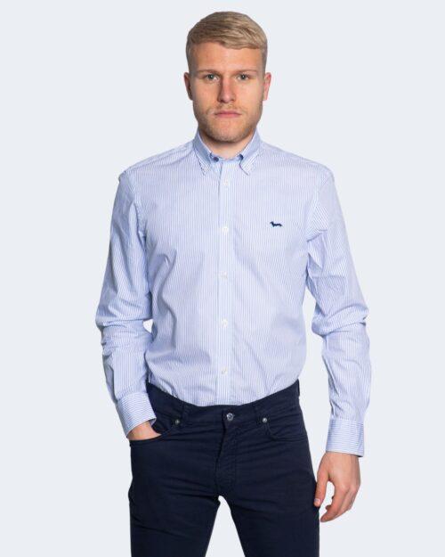 Camicia manica lunga Harmont&blaine 2 TESSUTI RIGHE PICCOLE Celeste – 66823