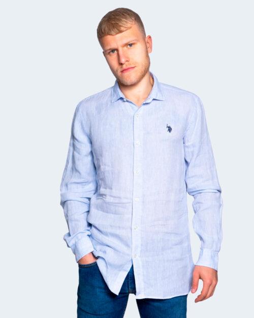 Camicia manica lunga U.s. Polo Assn. ADAM Celeste – 67337