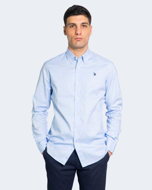 Camicia manica lunga U.s. Polo Assn. JEROM SHIRT Celeste – 68438