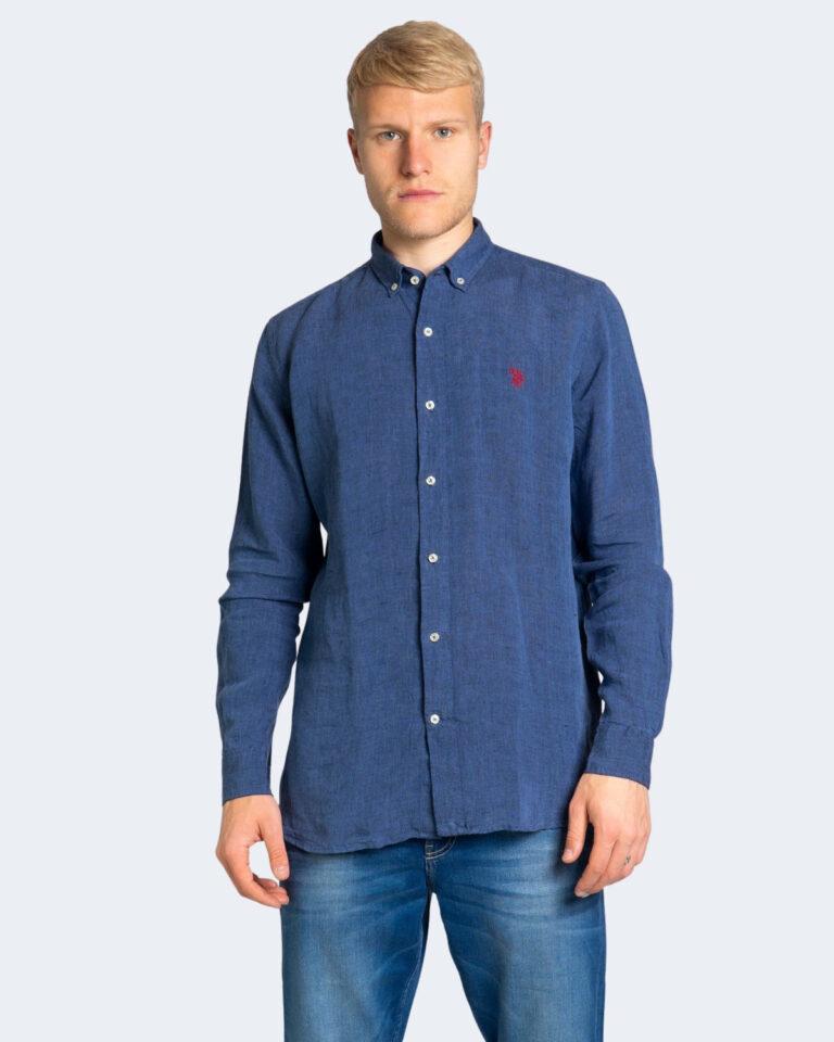 Camicia manica lunga U.S. Polo Assn. ZAM NEW Dark Blue Denim - Foto 1