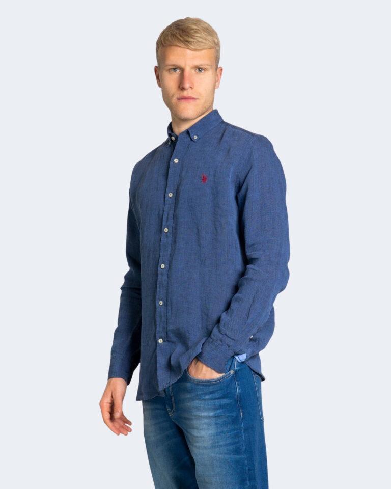 Camicia manica lunga U.S. Polo Assn. ZAM NEW Dark Blue Denim - Foto 2