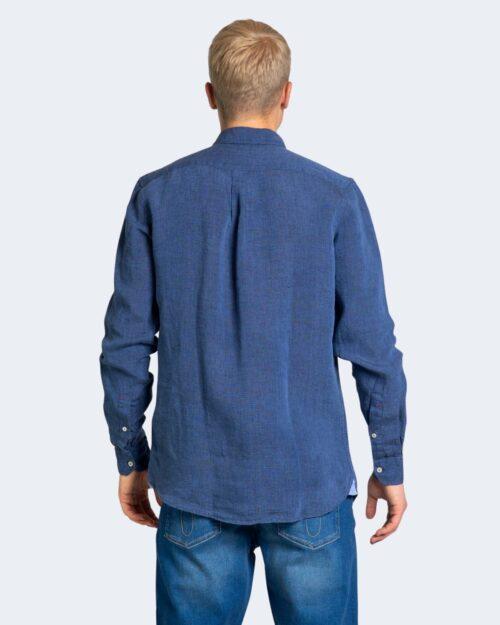 Camicia manica lunga U.S. Polo Assn. ZAM NEW Dark Blue Denim - Foto 3