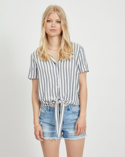 Camicia manica corta Vila Clothes SOVERA Blu – 45328