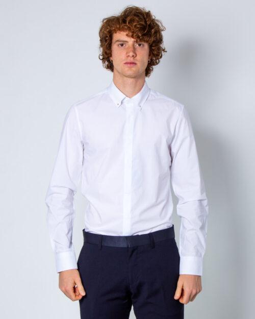 Camicia manica lunga Antony Morato COLLO CON BOTTONI METALLO Bianco - Foto 1