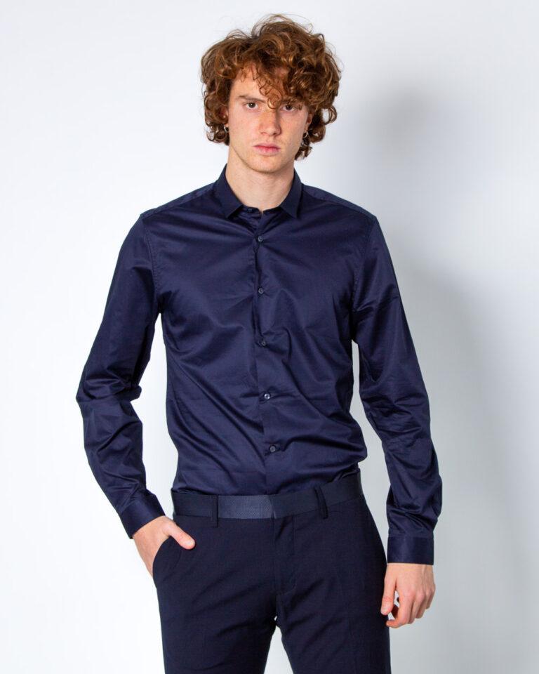 Camicia manica lunga Antony Morato COLLO PICCOLO Blue scuro - Foto 1