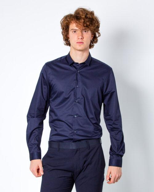 Camicia manica lunga Antony Morato COLLO PICCOLO Blue scuro - Foto 2