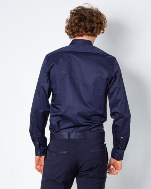 Camicia manica lunga Antony Morato COLLO PICCOLO Blue scuro - Foto 3