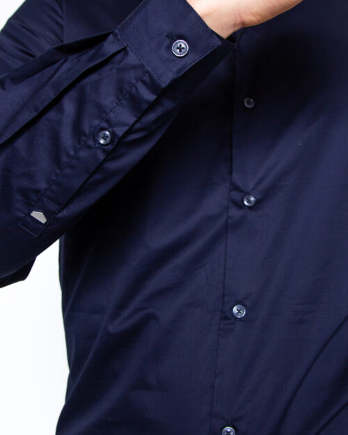 Camicia manica lunga Antony Morato COLLO PICCOLO Blue scuro - Foto 4
