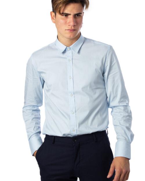 Camicia manica lunga Antony Morato BASICA Celeste - Foto 1