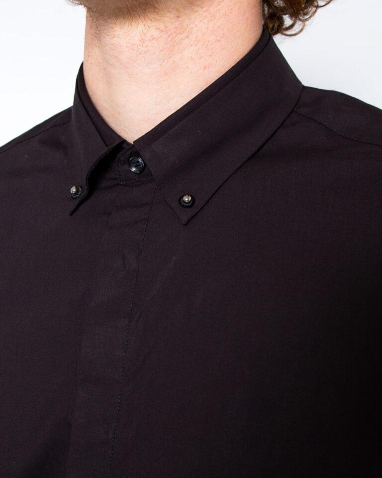 Camicia manica lunga Antony Morato COLLO CON BOTTONI METALLO Nero - Foto 3