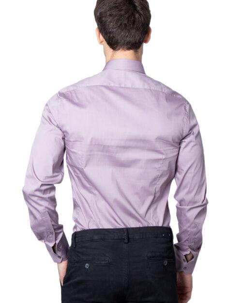 Camicia manica lunga Antony Morato Basica Abbottonatura a Vista Color Super Slim Viola – 31075