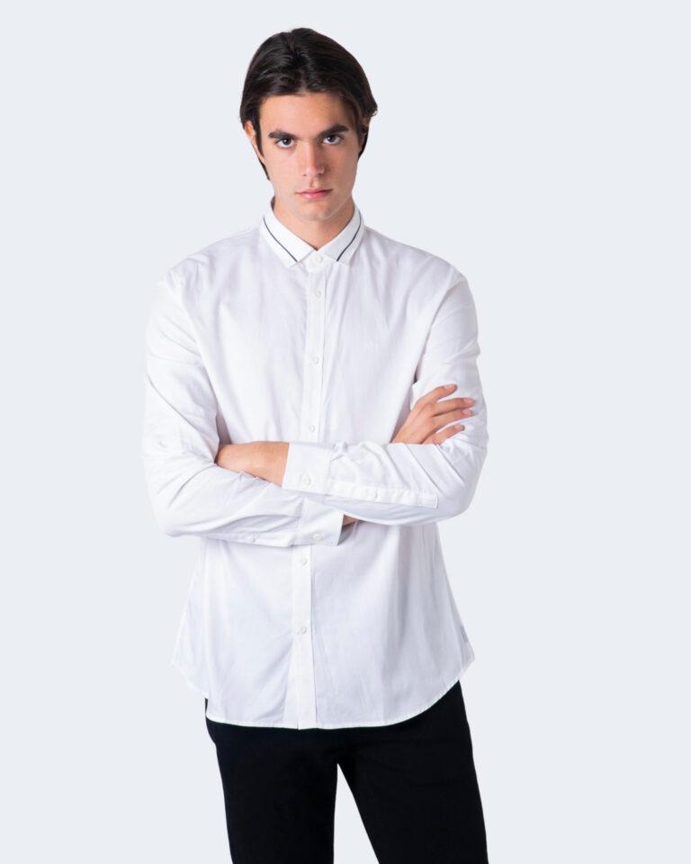 Camicia manica lunga Armani Exchange Colletto riga contrasto Bianco - Foto 1