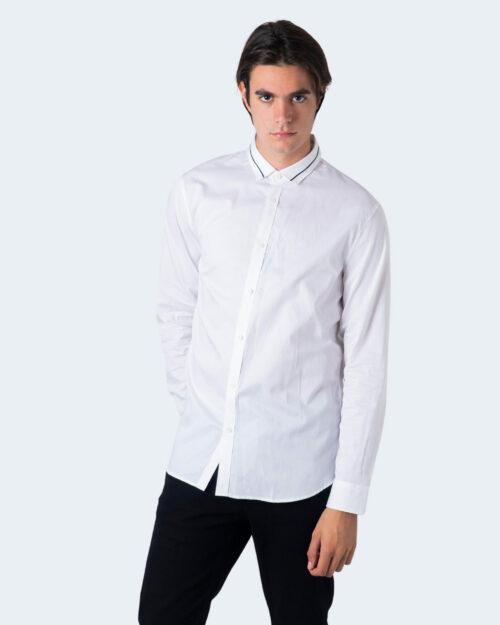 Camicia manica lunga Armani Exchange Colletto riga contrasto Bianco - Foto 2