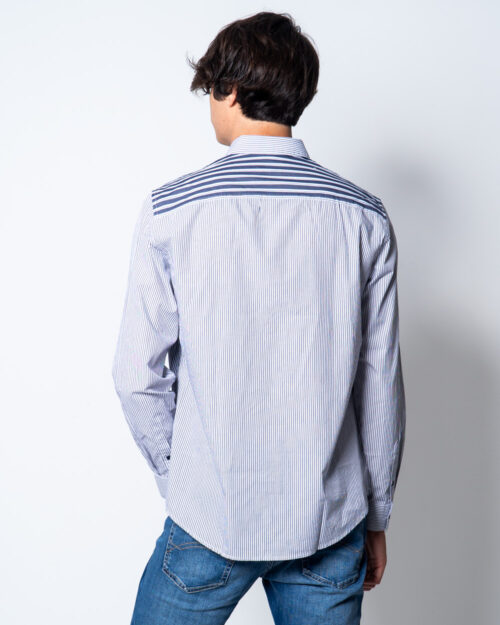 Camicia manica lunga Armani Exchange TRAMA RIGHE Blu – 44729