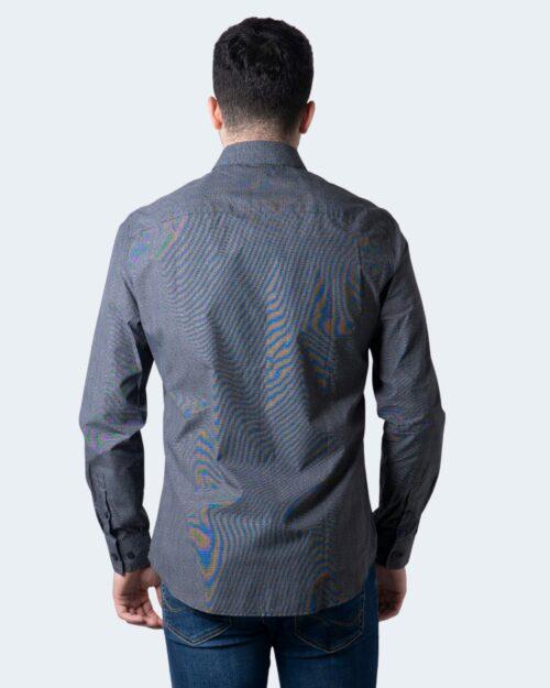 Camicia manica lunga Armani Exchange STAMPA PUNTINI Nero – 54142