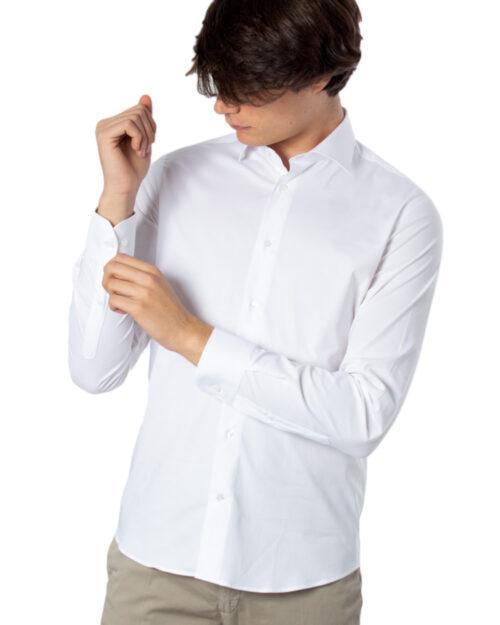 Camicia manica lunga Brian Brome STRETCH FRANCESE Bianco - Foto 1
