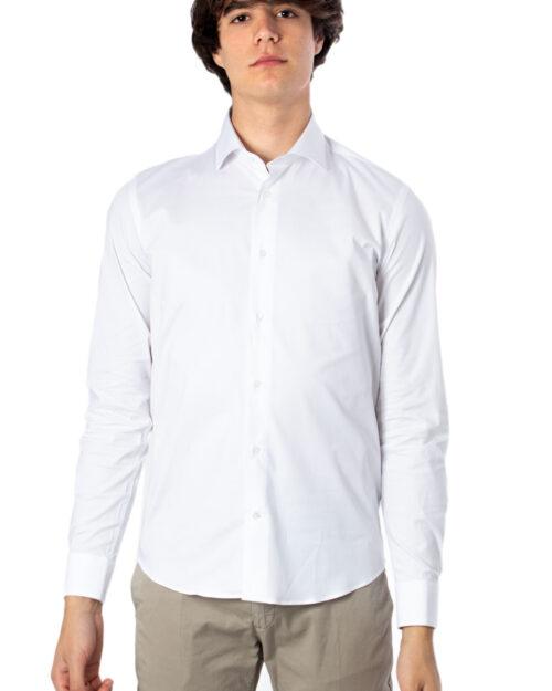 Camicia manica lunga Brian Brome STRETCH FRANCESE Bianco - Foto 2