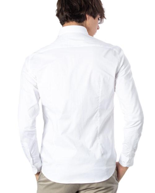 Camicia manica lunga Brian Brome STRETCH FRANCESE Bianco - Foto 3
