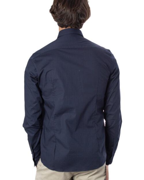 Camicia manica lunga Brian Brome STRETCH FRANCESE Blu - Foto 2