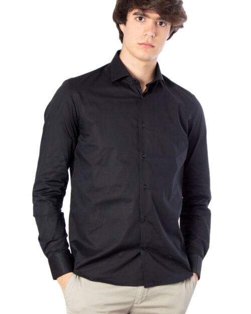 Camicia manica lunga Brian Brome STRETCH FRANCESE Nero - Foto 1