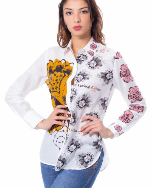 Camicia manica lunga Desigual CAM ASLAN Bianco – 30456