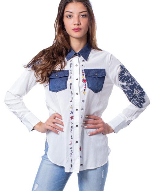 Camicia manica lunga Desigual CAM FRIDA Bianco – 29730
