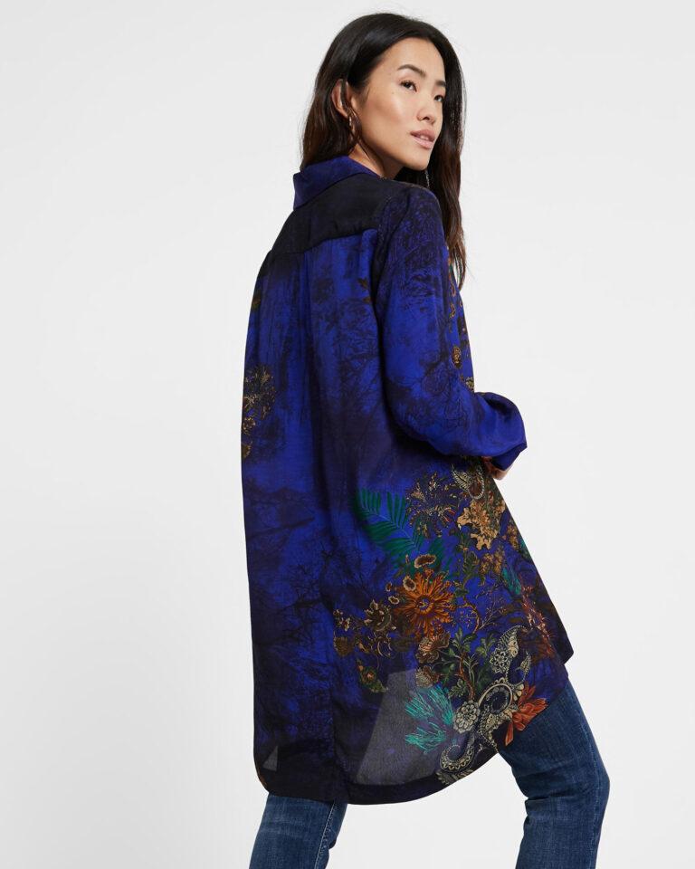 Camicia manica lunga Desigual CAM TAMESIS Blu - Foto 3