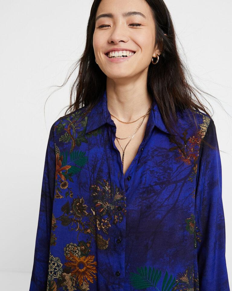 Camicia manica lunga Desigual CAM TAMESIS Blu - Foto 4